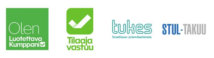 Luotettava kumppani logot